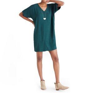 Madewell Novel Shift Dress in Emerald Green size S